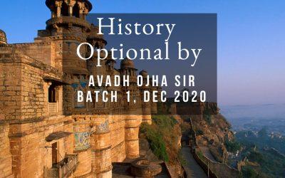 History Optional: Batch I (Dec 2020)
