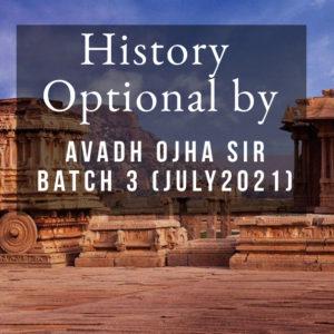 History Optional Batch 3