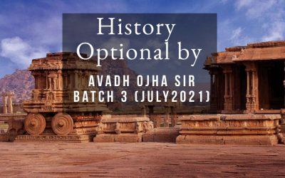 History Optional Batch IV (July 2021)
