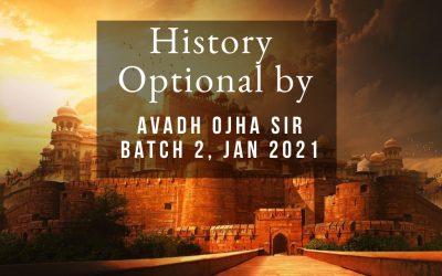 History Optional: Batch III (March 2021)